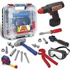 Durable Kids Tool Set with Electronic Cordless Drill and 18 Pretend Play
