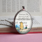 Winnie The Pooh smallest things pendant necklace silver bronze Disney jewellery