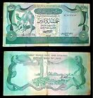 LIBYA 5 DINARS 1980 showing camels in green color used