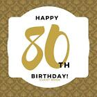 Happy 80th Birthday Guest Book: Guest Book. Free Layout Message Book For Family