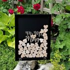 Buythrow® Wedding Guest Book Personalized Alternative Drop Top Box Heart