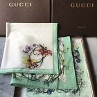 GUCCI SCARVE set of 2 or set of 3 in GUCCI Box *** NEW