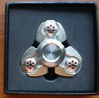FIDGIT Spinner Metal Hand Toy ADHD,ADD, Autism  Extreme smooth 8min spin, SILVER
