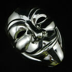 V For Vendetta Mask Guy Fawkes Anonymous Halloween Fancy Dress Costume Adult S7