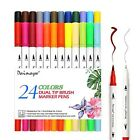 Dainayw 24pcs Calligraphy Pens, Colored Pens Dual Tip Art Marker, Writing Pens,