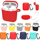 For Apple AirPods Accessories Silicone Cover Case With Carabiner Anti-lost Strap