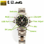 1080P Waterproof Spy Camera Watch Hidden Video Recorder Night Vision Pinhole DVR