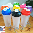 USA 600ml Cup BPAfree Joggle Protein Blender Shaker Mixer Drink Whisk Ball Bottle