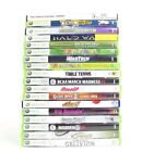 Lot of 18 XBOX 360 GAMES Halo Wars, Guitar Hero 2 & 3, Kinect Sports, Madden...u