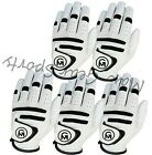 Mens Golf Gloves white 100% Cabretta Leather All weather Left hand Pack of 6