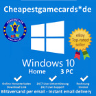 MS Windows 10 Home Win 10 Home OEM 1/2/3/4/5 PC produkt key per email