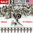 Kyпить Lot 10mm Silver Spots Cone Screw Metal Studs Leather craft Rivet Bullet Spikes на еВаy.соm