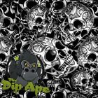 HYDROGRAPHIC FILM HYDRO TRIBAL SKULLS WATER TRANSFER DIP APE