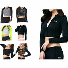 Belleap Rash Guard Womens Crop Top Long Sleeve Swimwear UV Protection 0549