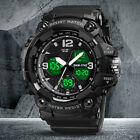 Kids Boys LED Sports Digital Watch Outdoor Waterproof Alarm Count-down Stopwatch image