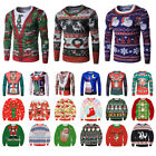 Women Men Ugly Christmas Sweater Xmas Jumper T shirt Pullover Tops Hoodies