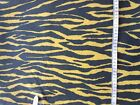 Tiger print wetlook/shimmer scales Lycra fabric remnants (4 way stretch) 559/560