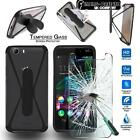 Tempered Glass Screen Protector + silicone bumper Stand Case for Wiko SmartPhone