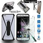 Tempered Glass Screen Protector + silicone bumper Stand Case for Cubot Mobile