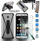 Tempered Glass Screen Protector +silicone bumper Stand Case For ZTE Blade Phone