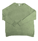 Merona Mens Long Sleeved Crew Neck Pullover Knit Sweater XXL Olive Green
