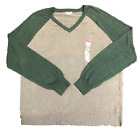 Merona Mens V Neck Long Sleeve Knit Pullover Sweater XXL Big & Tall CHOOSE COLOR