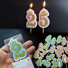 Внешний вид - Happy Birthday Candles Glitter 0-9 Numbers Cake Toppers Decor Party Supplies