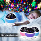 Constellation Night Light Baby boy Kids Lamp Moon Star Sky Projector Rotating