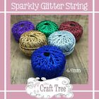 Sparkly Glitter Soft String Cord Twine 5, 10, 20 30 50 Metres Available