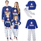 Christmas Family Matching Pajamas Set Adult Women Kids Sleepwear Nightwear