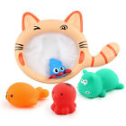 Sets Kids Bath toys Baby Watering Pot Sound Squirt Toy Cat Net Water Toy Cute