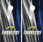 San Diego Chargers Ripped Metal Cornhole Board Decal Wrap Wraps $54.95 USD on eBay