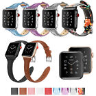Fintie Leather Wrist Band For Apple Watch Series 4/3/2/1 44mm 42mm 40mm 38mm image