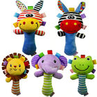 Baby Hand Bell Stick, Animal Shaped Catoon Hand Rattle  Kid Plush Soft Toy W