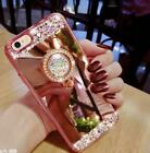 Mirror Bling Diamond Rhinestone Ring Kickstand Case Cover For Various Phone #7