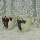 VILLA GRANDE HAND PAINTED JUMBO COFFEE MUG SET OF 2 HAND CRAFTED POTTERY DISHES