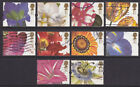 1997 FLOWERS GREETINGS STAMPS SET OF 10 SG1955/64 USED