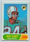 "1968   JACK CLANCY - Topps ""ROOKIE"" Football Card - # 14 - MIAMII DOLPHINS"