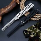Folding Tactical Practice Butterfly Knife Balisong Trainer Training Comb Knife