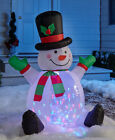 4 FT LIGHT  MOTION COLOR CHANGING HOLIDAY INFLATABLE YARD CHRISTMAS HOME DECOR