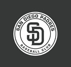 San Diego Padres Baseball Black/White Vinyl Decal on Ebay