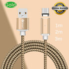 1/2/3M USB-C Magnetic Cable LED Type C Rapid Data USB Phone Charger Cable Lot