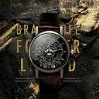 Men Watch Hollow Leather Imitate Mechanical Wristwatch Quartz Relogio Masculino image