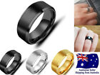 New Stainless Steel 8mm High Polished Men/women Wedding Band Ring Jewelry 1pc