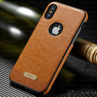 For Apple iPhone XS MAX XR SLIM Luxury Leather Back Ultra Thin TPU Case Cover