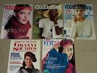 5 Knitting Magazine Lot- 3 Vogue Knitting, 1 Knit Simple, 1 Granny Squares
