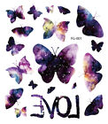 Flowers Butterfly Tattoo Waterproof  Body Temporary Tattoos Sticker Removable US