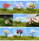 Внешний вид - 10pcs Beauty Miniature Artificial Flowers Micro Landscape Bonsai Garden Ornament