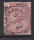 SG-166 1D Venetian reds GB Victorian stamps