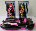 Monster High- Draculara Sweet 1600 Pink Convertible Car + New Draculaura & Cleo